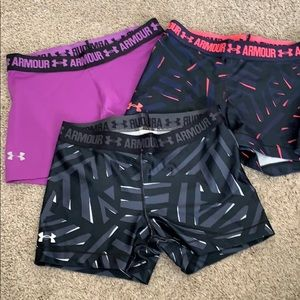 3 pairs Under Armour booty shorts